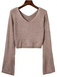 V Neck Crop Sweater -