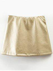 Metallic Color Skirt