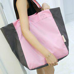 Nylon Color Block Shoulder Bag -