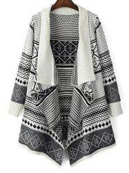Jacquard Knit Waterfall Cardigan -