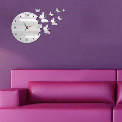 New Arrival Butterfly Design DIY Silent Wall Clock For Home Decor -