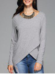 Front Slit Ribbed T-Shirt