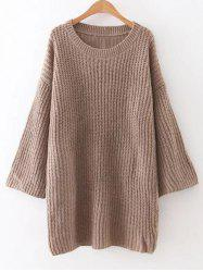 Relaxed Fit Long Sleeve Knitted Tunic Dress -