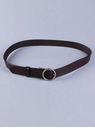 All Match Round Pin Buckle Faux Leather Belt