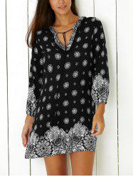 Tribal Print Casual Going Out Shift Dress