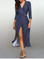 Pattern Maxi Wrap Dress