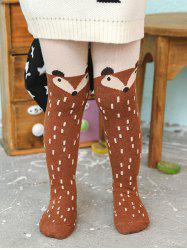 Cartoon Fox Print Kids Stockings -