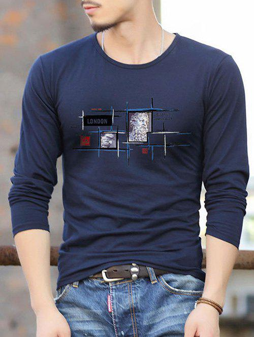 Outfit Slim Fit Round Neck Letter Print T-Shirt