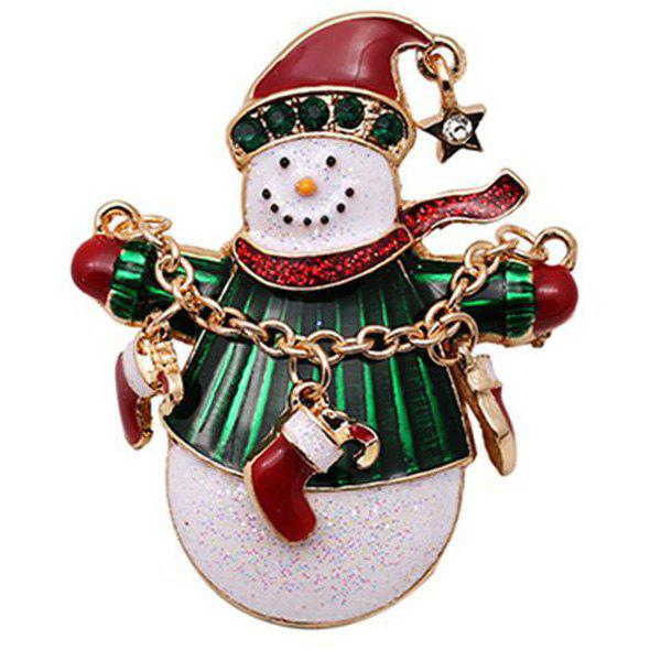 Enamel Christmas Snowman BroochJEWELRY<br><br>Color: RED; Brooch Type: Brooch; Gender: For Women; Material: Resin; Metal Type: Gold Plated; Style: Trendy; Shape/Pattern: Others; Weight: 0.032kg; Package Contents: 1 x Brooch;