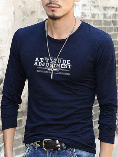 Fancy Slim Fit Round Neck Letter Printed T-Shirt