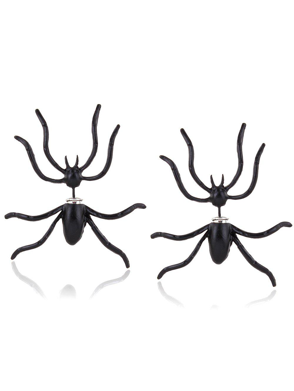 Punk Spider Shape Stud EarringsJEWELRY<br><br>Color: BLACK; Earring Type: Stud Earrings; Gender: For Women; Metal Type: Alloy; Style: Punk; Shape/Pattern: Insect; Weight: 0.030kg; Package Contents: 1 x Earrings(Pair);