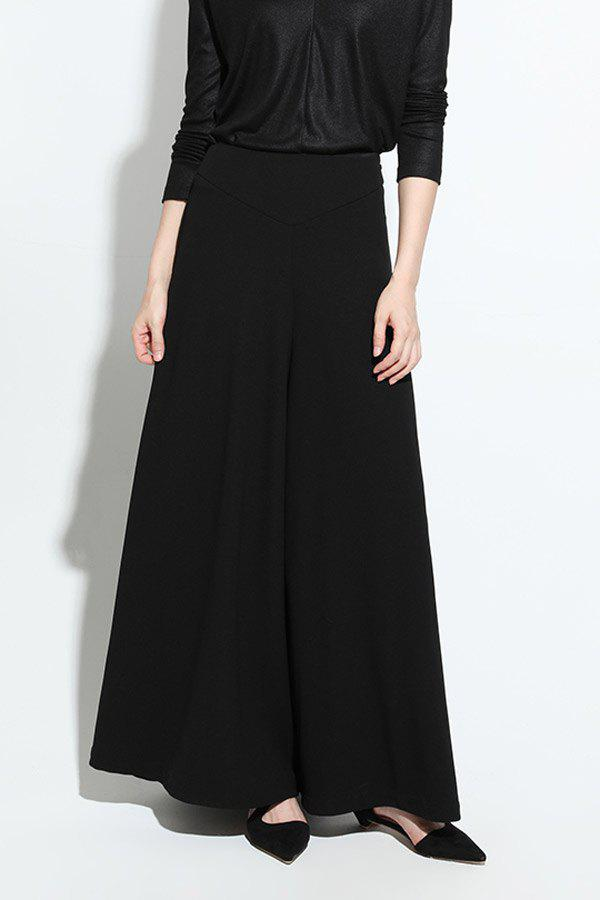 Affordable Zipper Fly Wide Leg Pants
