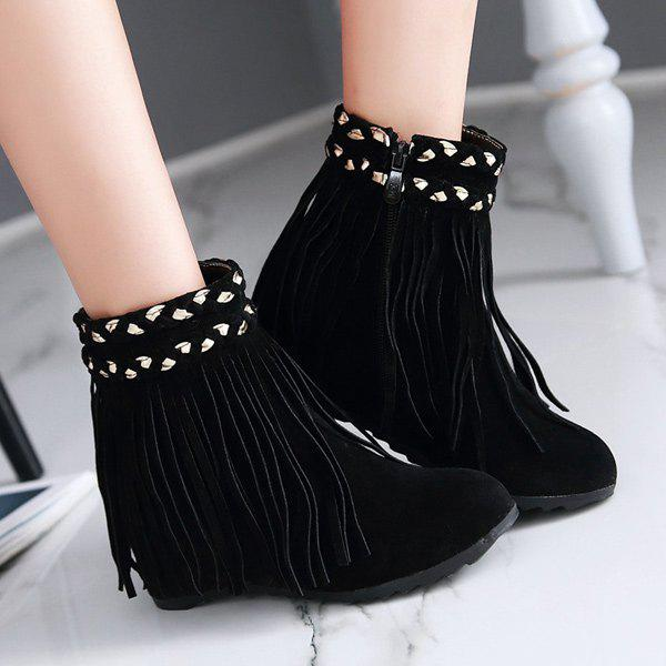 Fringe Suede Invisible Wedge Bottes