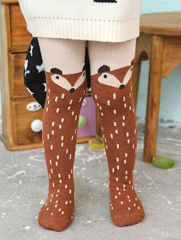 Affordable Cartoon Fox Print Kids Stockings