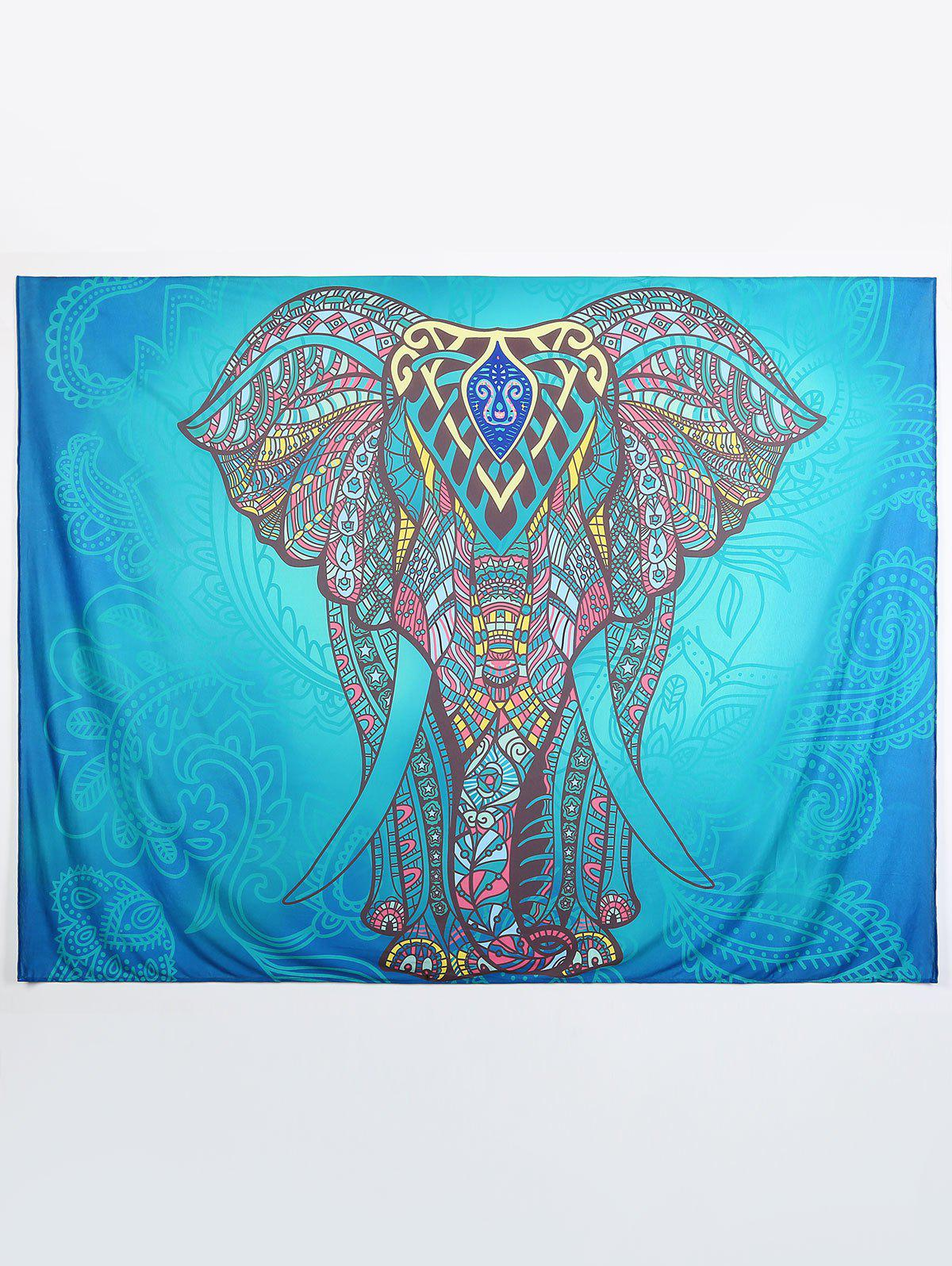 Casual Elephant Print Throw Tapestry Yoga Mat Beach Throw от Rosegal.com INT