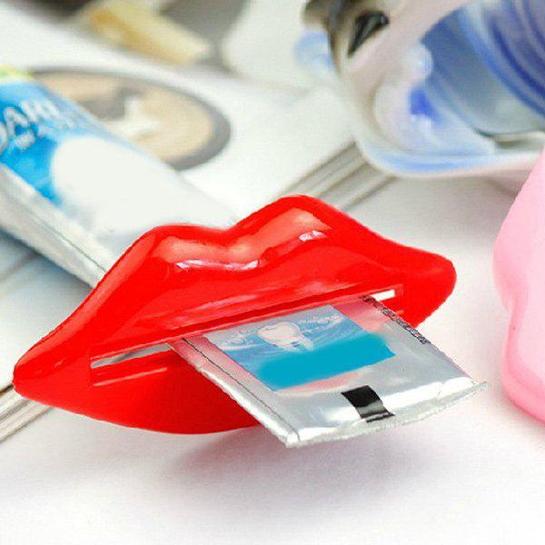 Commodity 2PCS Mouth Shape Toothpaste SqueezersHOME<br><br>Color: RED AND PINK; Type: Other; Material: Other; Weight: 0.040kg; Package Contents: 1 x Squeezer Set;