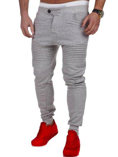 Buy Casual Pleated Insert Buttoned Jogger Pants