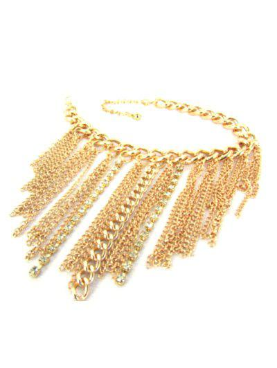 Tassel Chain Boot AnkletJEWELRY<br><br>Color: GOLDEN; Gender: For Women; Metal Type: Alloy; Style: Trendy; Shape/Pattern: Others; Weight: 0.030kg; Package Contents: 1 x Anklet;
