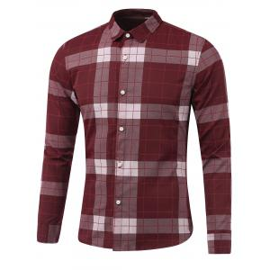 Plaid Long Sleeve Button Down Flannel Shirt