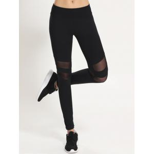 Mesh Panel Sporty Running Leggings