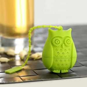 Creative Cartoon Owl Shape Silicon Tea Infusers - Green