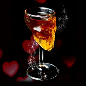 Novelty Skull Design Borosilicate Transparent Wine Glass - Transparent