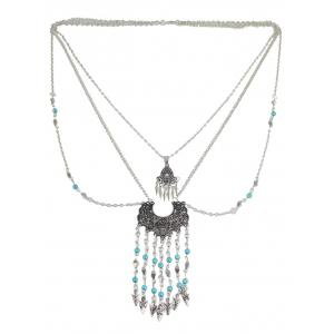 Bohemian Faux Turquoise Water Drop Necklace