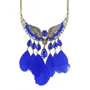 Water Drop Angel Wings Feather Necklace