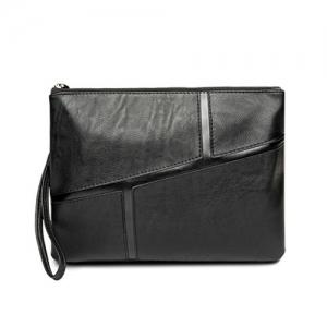 Color Scissor Wristlet Clutch Bag - Black