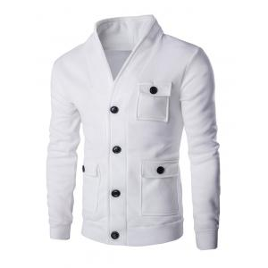 Flap Patch Pocket Long Sleeve Button Up Jacket