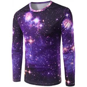 3D Starry Sky Print Galaxy T-shirt