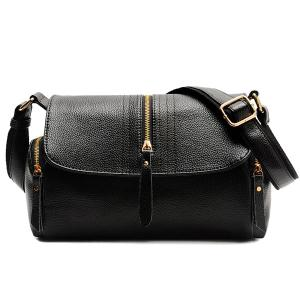 Magnetic Closure Zippers Stitching Crossbody Bag