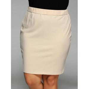 Elastic Waist Bodycon Skirt