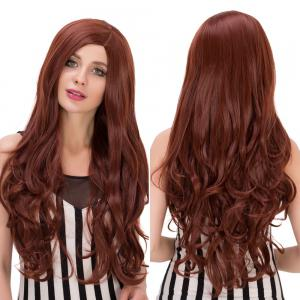 Long Wavy Side Parting Heat Resistant Fiber Wig