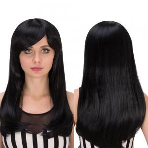 Gorgeous Long Side Bang Tail Adduction Heat Resistant Fiber Wig