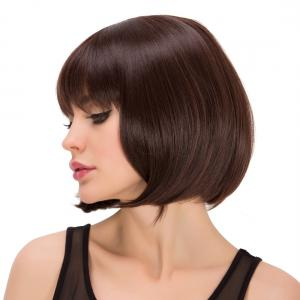 Impressive Short Full Bang Straight Heat Resistant Fiber Wig -