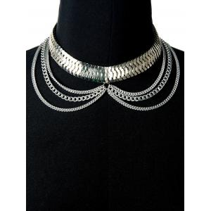 Multi-Functional Chain Layered Serpent Boot Anklet - Argent