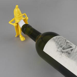 Cartoon Mr. Banana Red Wine Silicone Bottle Stopper - YELLOW