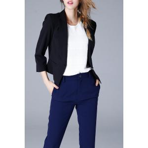 Shawl Collar Cropped Blazer