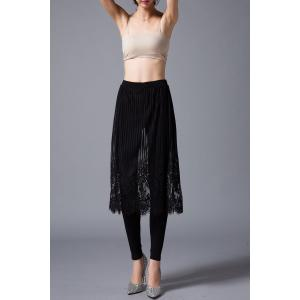 Lace Pleated Culotte