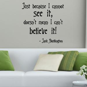 Removable Famous Quotes Wall Stickers - BLACK