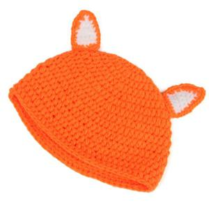 Newborn Baby Cartoon Fox Shape Knitted Blanket Photography -