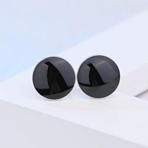 Pair of Round Stud Earrings -