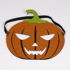 Halloween Pumpkin Elastic Hair Band Mask - YELLOW