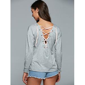 Lace-Up Casual T-Shirt -