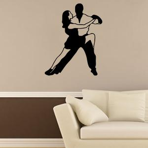 Removable Waterproof Dance Carved Art Wall Stickers -