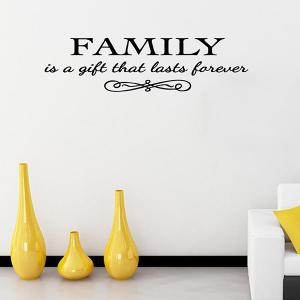 Vinyl Family Proverbs Waterproof Removable Wall Stickers - BLACK