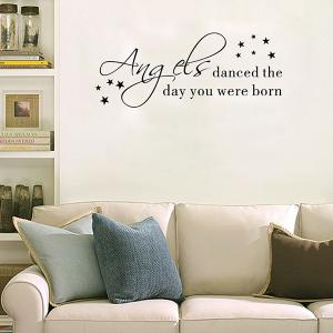 Removable Waterproof Children Room Wall Stickers - BLACK