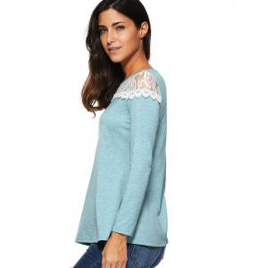 Lace Long Sleeve T-Shirt -