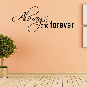 Vinyl Art Proverbs Waterproof Removable Wall Stickers - BLACK